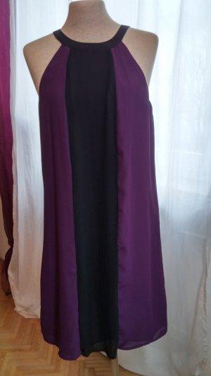 HM Robe chiffon violet foncé-brun pourpre polyester