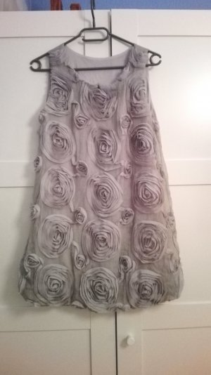 Balloon Dress light grey-silver-colored mixture fibre