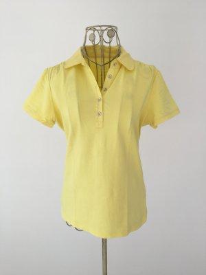 leichtes, dünnes Poloshirt von Esprit in zitronengelb