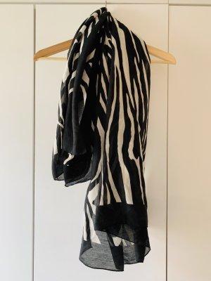 Leichtes Halstuch // Schal in schwarz-weiß // Zebra