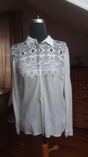 Leichtes Hemd mit futuristischem Muster