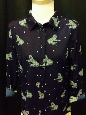 Leichtes Hemd mit Geoparden-Print