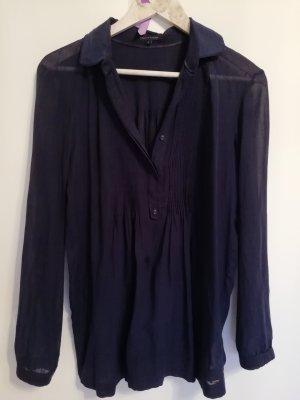 Tommy Hilfiger Camisa de manga larga azul oscuro Algodón