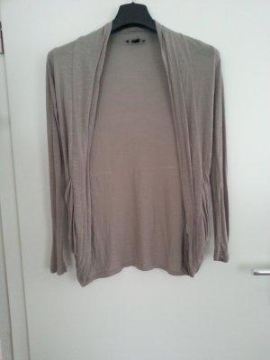 Chaqueta estilo camisa marrón grisáceo-beige