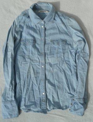 Leichtes Jeanshemd Jeans Basic Klassisch Hemd