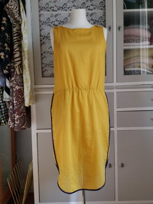 Baum und Pferdgarten Off the shoulder jurk geel-donkerblauw