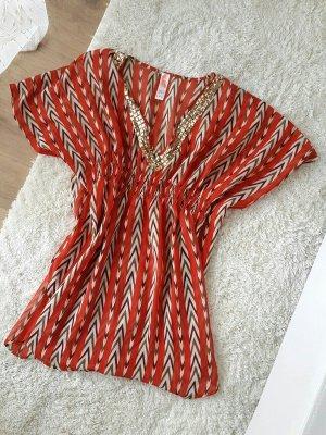 Leichtes Kleid / Strandkleid Rot / Schwarz