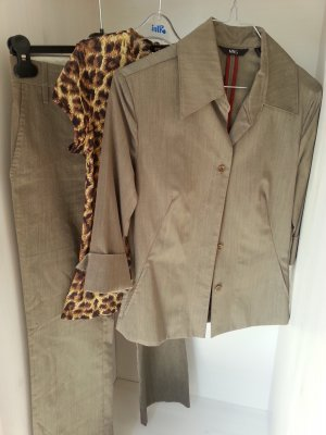 Mango Trouser Suit olive green polyester