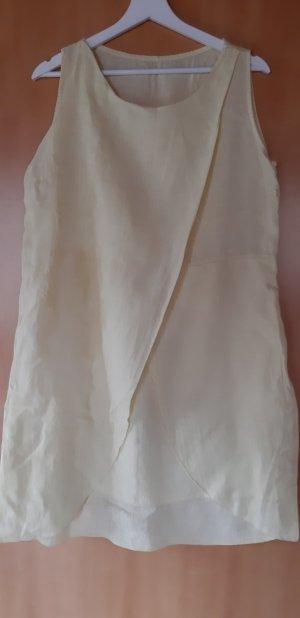 A Line Dress pale yellow linen