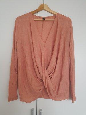 YAS Wraparound Shirt apricot