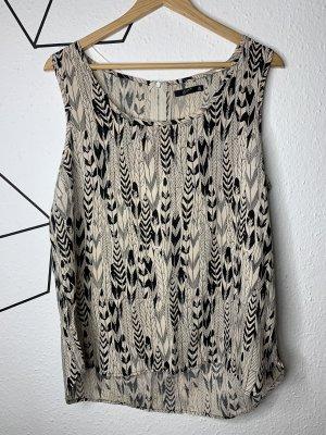 Camisa de mujer crema-negro