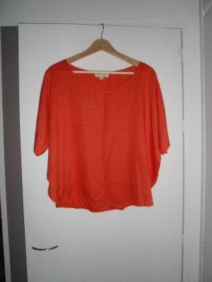 leichtes orangenes Oversize-Shirt von cloth&stone