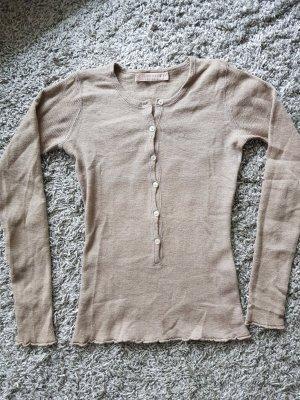 Leichtes Rippshirt aus Cashmere