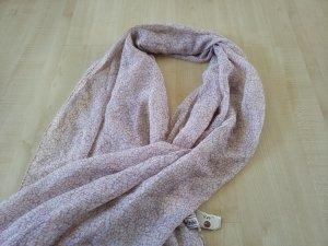 leichtes rosa weiß gemustertes Tuch von Multiblu NEU
