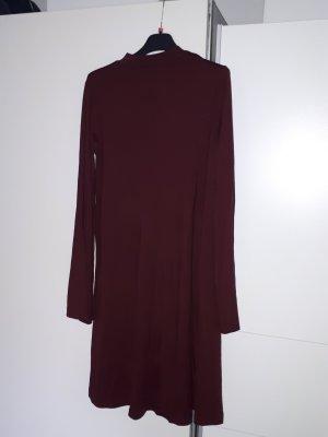 Babydoll-jurk donkerrood Katoen