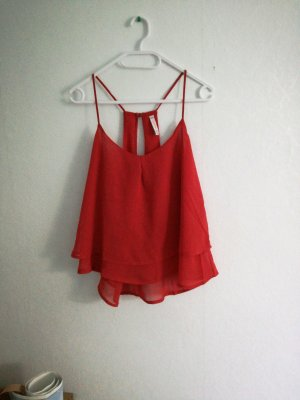 leichtes rotes sommer top in m