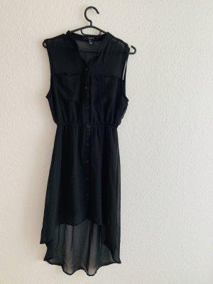 Leichtes schwarzes Vokuhila-Kleid