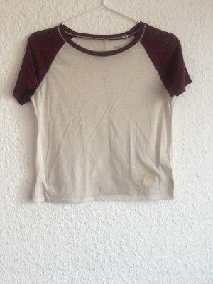 BDG T-shirt crema-bordeaux