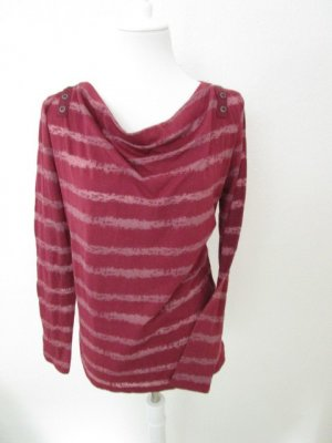 Gina Benotti Cowl-Neck Shirt dark red