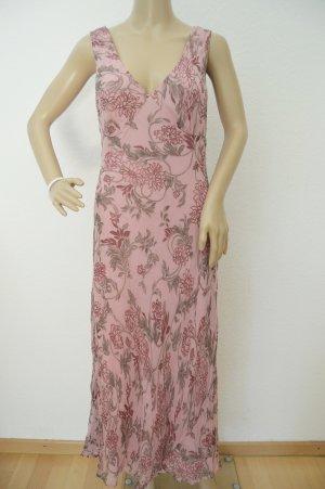 Robe longue vieux rose-mauve