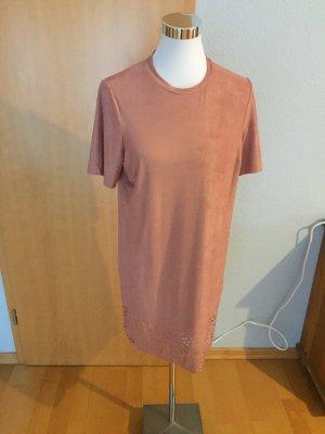 Vestido de manga corta multicolor