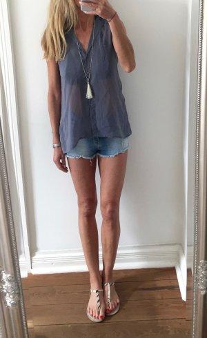 leichtes Sommer Top Bluse von H&M * graublau * Gr. S 36