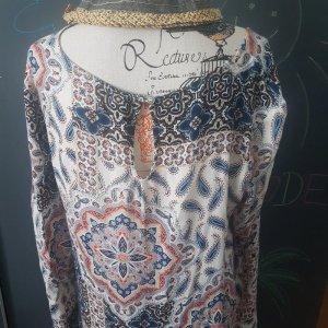 Leichtes Sommerkleid Boho Fransen modern Hippie Style Eksept 38 - 40