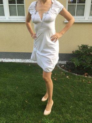 Leichtes Sommerkleid Cop Copine weißes Kleid Strandkleid