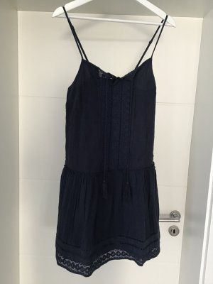 Vila Hippie Dress dark blue viscose