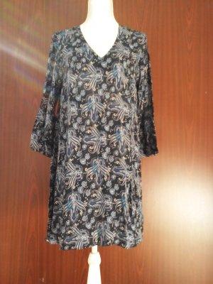 leichtes Sommerkleid im Bobo Style mit Volantärmeln Gr. 40