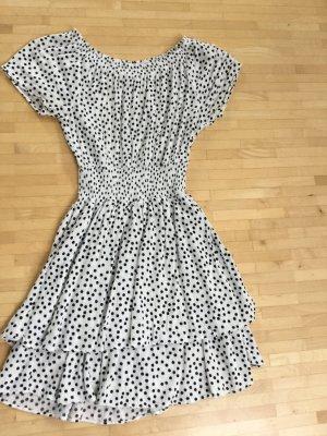 Leichtes Sommerkleid von Pepe Jeans mit Pünktchen und variablem Ausschnitt in Gr. S