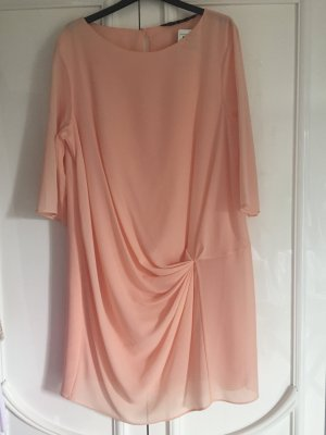 Zara Robe mi-longue rose chair polyester