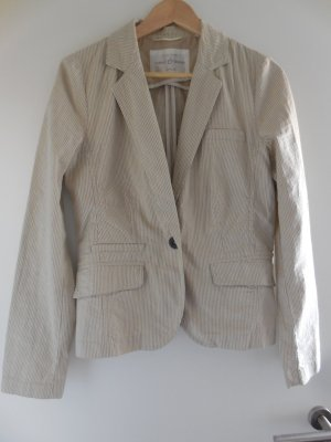 Opus Boyfriend Blazer natural white-beige cotton