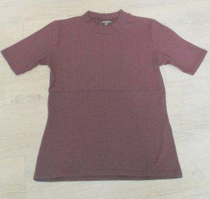 Street One Camisa tejida púrpura-rojo zarzamora tejido mezclado