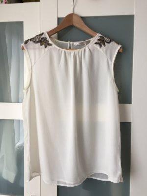 leichtes Top, semitransparent mit Verzierungen, Zara