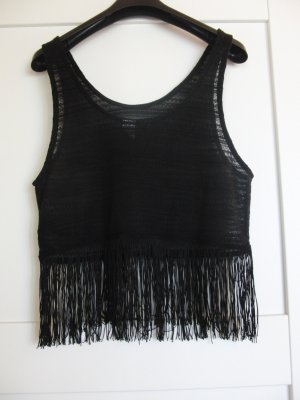 H&M Knitted Top black polyester