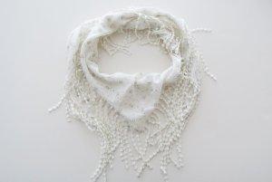 leichtes Tuch Halstuch weiß grau Sommertuch