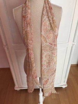 leichtes Tuch Schal mit Blumen pastell