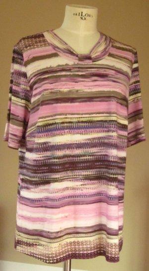 Blouse à manches courtes multicolore tissu mixte