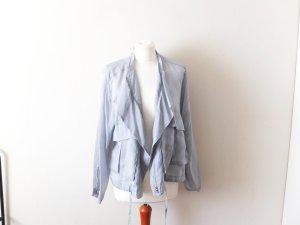 leichtes Zara Woman Jäckchen Gr. M 38 40 blau grau Curpo Blazer