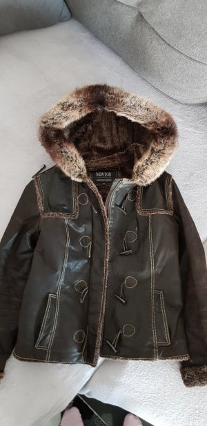 Fur Jacket anthracite leather