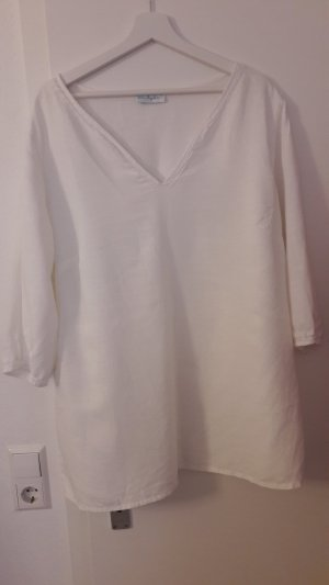 Ulla Popken Linnen blouse wit Linnen