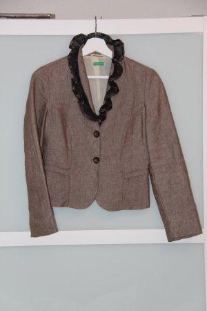 Benetton Tweed blazer bruin