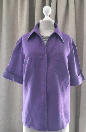 Franco Callegari Blouse en lin gris violet