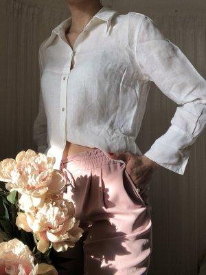 H&M Blouse en crash blanc-blanc cassé lin