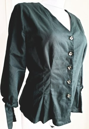 Reserved Linen Blouse dark green