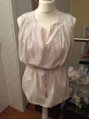 Fabiana Filippi Cropped shirt licht beige Linnen