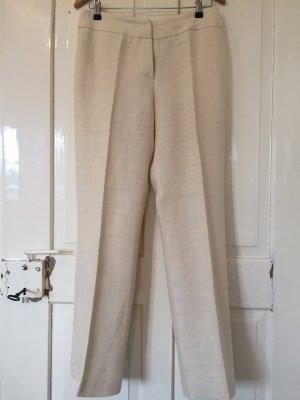 Pantalon à pinces crème