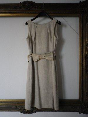 Leinen Etui-Kleid mit Schleife