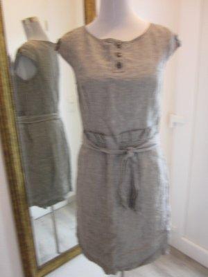 Leinen Etuie Kleid hellbraun beige  Gr 38